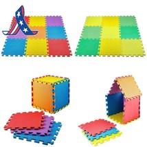 Medca Floor Mat 9-Tile Exercise Mat Solid Foam Eva Playmat Kids Safety C... - $12.24
