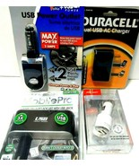 Lot of 4 USB AC Car Chargers, all sealed in Package Duracell, Bell,PPA,S... - $11.63