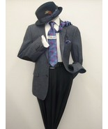 Men US POLO ASSN Wool Blend Sport coat Salt pepper Elbow patch Classic 6... - $75.00