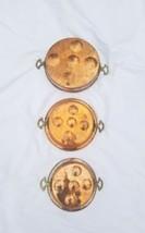 VINTAGE PRIMITIVE decor tin metal COPPER EGG POACHER ESCARGOT PANs SET o... - $136.62