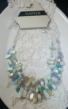 Napier Multi Layered Silver Plated Beaded Necklace - $15.00