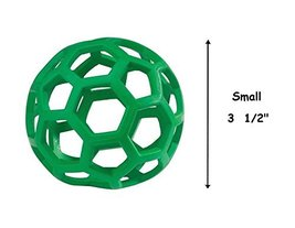 Hol-ee Roller Rubber Ball Toys for Dogs Tough Dog Toy Insert Treats(Smal... - £9.53 GBP