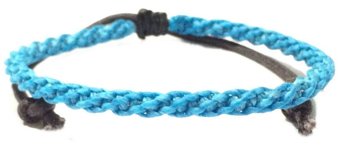 Braided Men's Wax Cotton Thai Wristband Bracelet Handcrafted Classic Wristwear