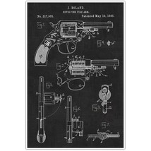 Weapons Patent Print, Revolver Patent Blueprint , 45 Photo Art - $11.39+