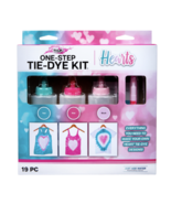 Tulip One-Step Tie-Dye Kit, Hearts, (Teal, Pink and Blush), 19 Pieces - $17.95