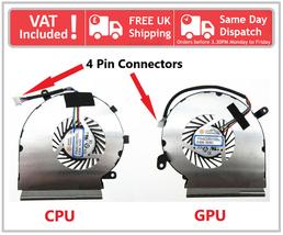 MSI Ge62vr Gp62vr Gp62mvr CPU Y Gpu Ventilador de Refrigeración Par Set ... - $12.99+