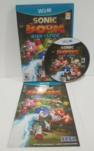 Sonic Boom: Rise of Lyric (Nintendo Wii U, 2014) COMPLETE & TESTED - $24.99