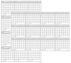 SwiftGlimpse 32x48 Large Jumbo Oversized Erasable Laminated Blank Annual... - $32.04