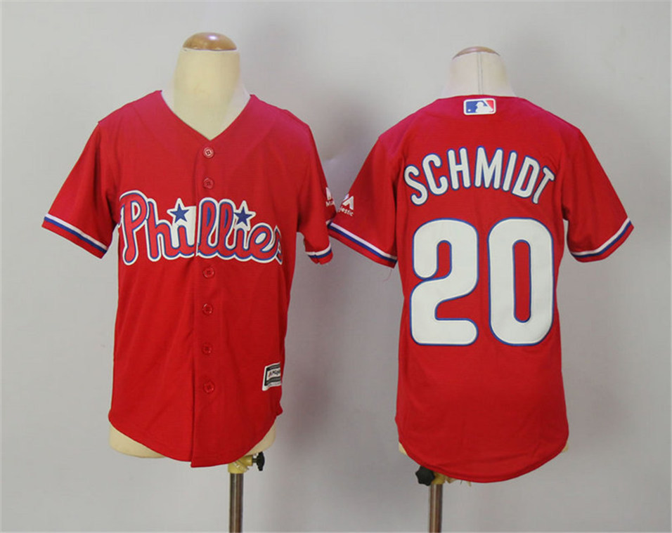 dce8b2158 ... order youth philadelphia phillies 20 mike schmidt red youth cool base  jersey 78c0f a4ffe