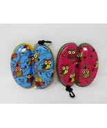 Hard Zippered Owls Glasses Case Pouch - $9.99