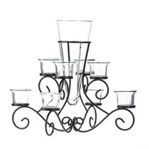 Stunning Scrollwork Candle Centerpiece With Vase - $26.99