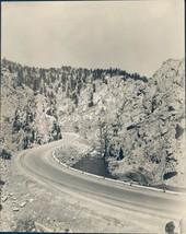 1939 Photo Big Thompson Canyon Road Curving Through Scenic Mountains 7x9 - $23.23