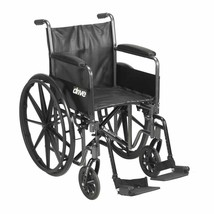 Drive Medical Silver Sport 2 With Full Arms and Footrests 18'' - $168.90