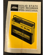 Vintage Toshiba GT-611P Tape Recorder Original Factory 9 page Owners Manual - $9.65