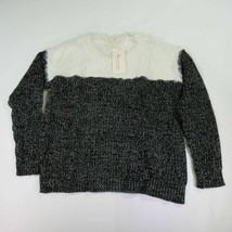 Two by Vince Camuto Small Faux Fur Two-tone Black And White Sweater New NWT - $44.54