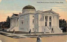 First Presbyterian Church Tulsa Oklahoma 1910c postcard - $4.90