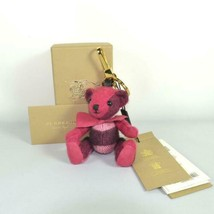 BURBERRY Authentic Cashmere Thomas Bear Key Ring Bag Charm Red multicolo... - $349.99