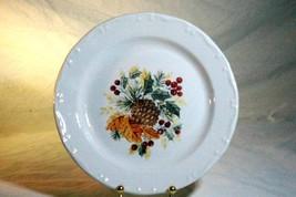 "Gibson Christmas Grand Nobility 1 Pine Cone Salad Dessert Plate 8"" - $9.00"