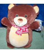 """Squishmallows Hugmees BROWNIE Brown Bear with Printed Scarf 14.5""""H New - $18.88"""