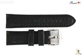 Bandenba 22mm Authentique Noir Texturé Cuir Panerai Cousu Bracelet de Mo... - $39.26