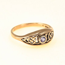 9ct Gold Sapphire Ring Vintage UK size Q BHS - $253.24