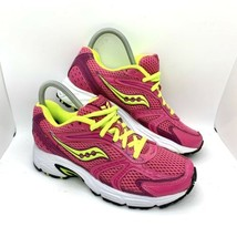 Saucony Oasis Grid Pink Volt Womens Running Athletic Training Shoes Sz 6... - $39.59
