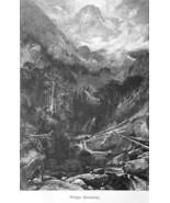COLORADO Rockies Holy Cross Mountain by Thomas Moran - 1883 German Print - $21.60