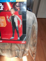 New Boys  Sz L 10 12 Finn Rubies Padded Jumpsuit & Shoe covers Star Wars... - $10.73