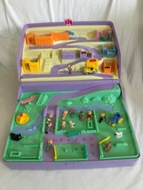 Vintage 1989 Polly Pocket Jewel Case Playset 16 figures Car Animals Trac... - $128.69