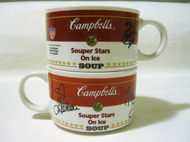 Campbell's Soup Mug Souper Stars on Ice Figure Skating Champions Kwan Li... - $7.99