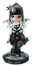 Ebros Dolly Fae Black Stars And Celestial Moon Fairy With Mystical Cat F... - $29.68