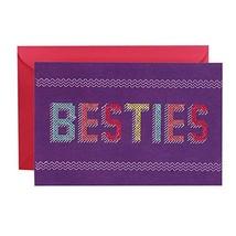 Hallmark Signature Birthday Greeting Card Besties Cross Stitch - $8.74