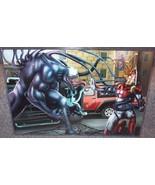 Venom vs Iron Man Glossy Art Print 11 x 17 In Hard Plastic Sleeve - $24.99