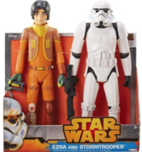 "Star Wars Rebels Duo 20"" Storm Trooper & Ezra Action Figures - SEE PHOTOS - $18.42"