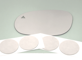 Fits 15-19 Challenger Left Driver Mirror Glass Lens w/Blind Spot Icon* - $31.63