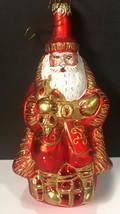 Kurt S. Adler Polonaise Ornament SANTA Glass Poland Hand Crafted 1999 - $56.99