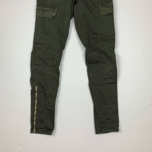J Brand Cargo Jeans West Point Olive Green USA Women Sz 24 Ankle image 3