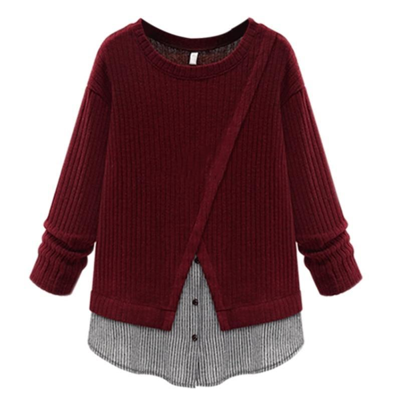 Primary image for Winter Sweater Women Fashion Criss-Cross Women's Clothing Long Sleeve Girls Tops