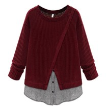 Winter Sweater Women Fashion Criss-Cross Women's Clothing Long Sleeve Gi... - $32.28+