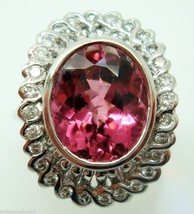 Fabulous 4 Carat Pink Genuine Natural Tourmaline Ring (#145) - $1,218.38