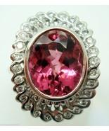Fabulous 4 Carat Pink Genuine Natural Tourmaline Ring (#145) - $1,218.38