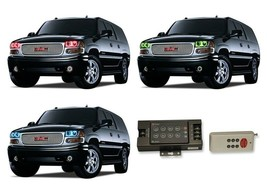 for GMC Yukon 01-06 RGB Multi Color RF LED Halo kit for Headlights - $147.31