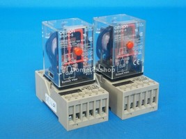 Omron MK3P5-S Relay with base Omron PF113A-N - $5.76