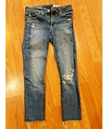AG-ED Adriano Goldschmied Womens Size 24R Prima Roll Up Jeans Destroyed - $29.65