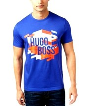 Hugo Boss Men's Graphic Print T-Shirt  Clematis Blue Medium - $46.78
