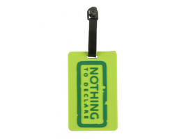 Nothing To Declare ~ Travel Suitcase ID Luggage Tag and Suitcase Label - $8.95