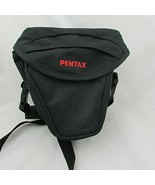 "Pentax nylon holster style camera case bag w/strap 8""x8""x6"" at widest - $15.51"