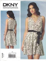 Vogue 1448 DKNY Donna Karan Mock Wrap Flirty Dress Pattern Uncut Choose ... - $14.54