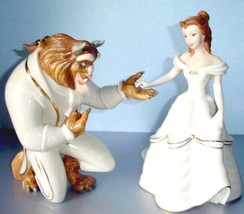 Lenox Disney Beauty & The Beast 2 Figurines My Hand My Heart is Yours Be... - $464.00