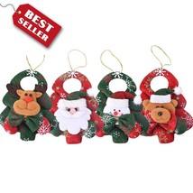 4pcs Santa Claus Home Tree Christmas Hanging Xmas Party Decor Ornament O... - £6.73 GBP